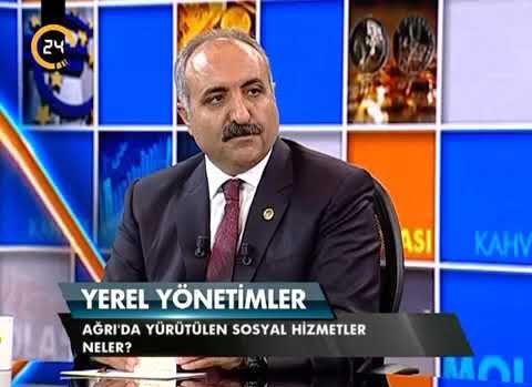 """Ağrı Belediye Başkanı Hasan Arslan'ın Kanal 24'de """"Kahve Molası' Programı Yayımı"""