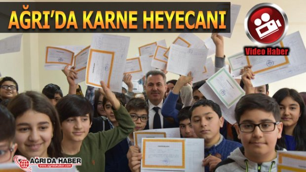 Ağrı'da Karne Heyecanı! Vali süleyman Elban Karne Dağıttı