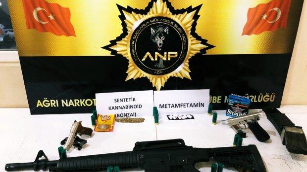 Ağrı'da Uyuşturucu operasyonu 17 gözaltı