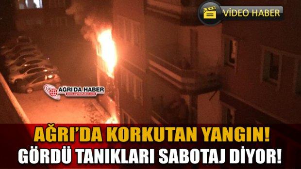 Ağrı'da Yangın