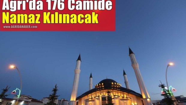 Ağrı'da 176 camide namaz kılınacak