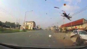 Korkunç: Metrelerce öteye uçtu !