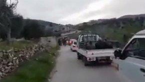 ÖSO köylerine dönen sivillere refakat ediyor